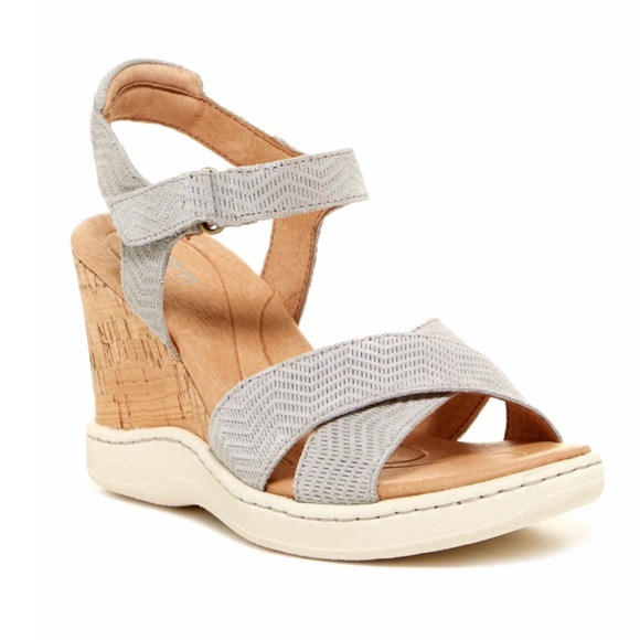 c35550aaf1b Born Coltyn Gray Suede Strappy Wedge Sandals